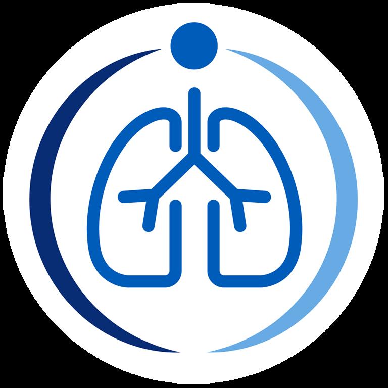Education for Health Respiratory Icon Colour white circle