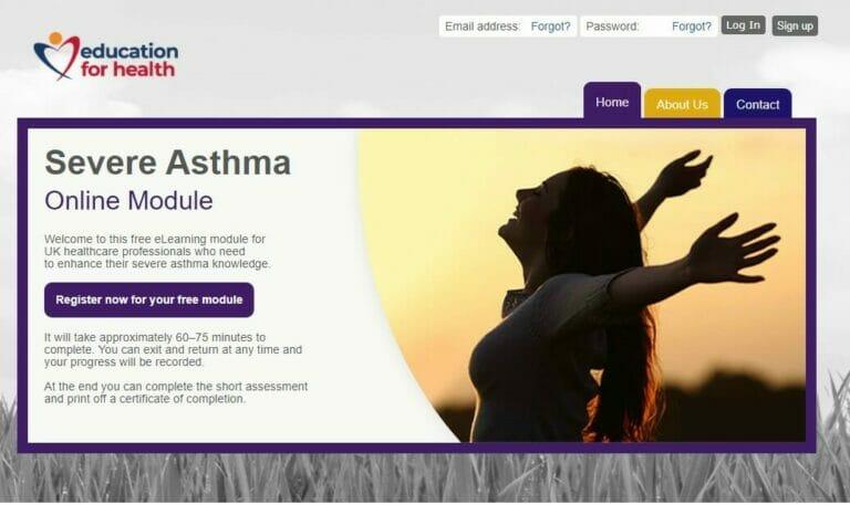 severe asthma homepage
