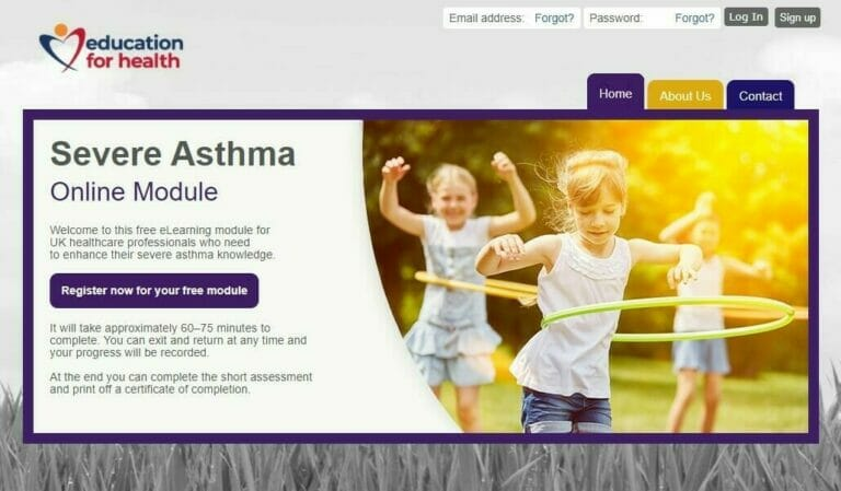 severe asthma in children homepage image